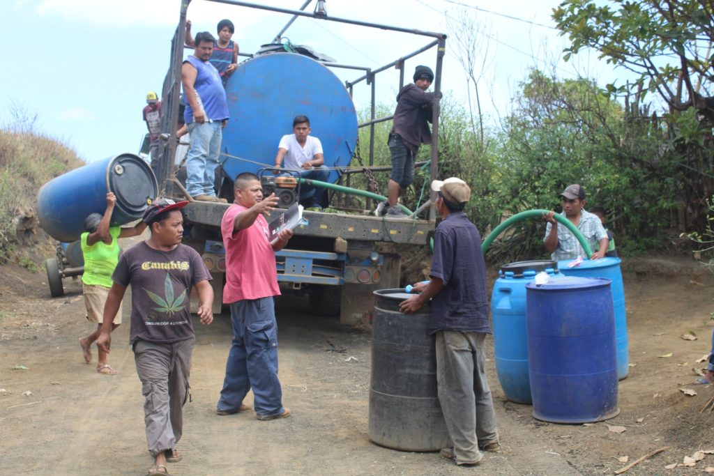 Water trucks provide water for local communities.