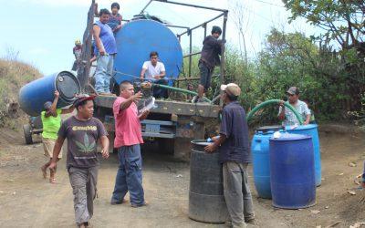 Water Tanker Delivering Water